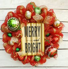 Check out this item in my Etsy shop https://www.etsy.com/listing/481351404/christmas-wreath-festive-wreath-holiday