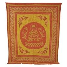 This groovy batik garden Buddha tapestry will a touch of zen and bohemian charm to any room! Use it as a tablecloth, a bedspread, a wall hanging, or a picnic blanket; the options are limitless! Please note: all tapestry measurements are approximate. $30.00