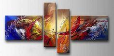 Schilderijen kopen | schilderij abstract blauw & rood 295,00
