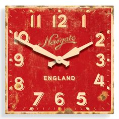 cool retro-look red clock