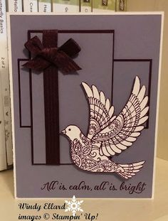 Windy's Wonderful Creations, Stampin' Up!, #GDP008, Dove Of Peace, Wonderland