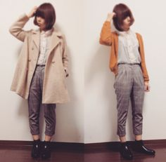▽  outer → THE EMPORIUM blouse → しまむら cardigan → earth music&ecology bottoms → honeys shoes → NO brand