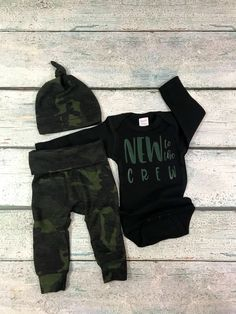 boy coming home outfit/ boy camo set/new to the crew outfit for boy Baby boy coming home outfit/ boy camo set/new to the crew outfit for boy – Baby – - Cute Adorable Baby Outfits Baby Outfits For Boys, Baby Boys, Baby Girl Camo, Baby First Outfit, Baby Boy Swag, Camo Baby Stuff, Carters Baby, Baby Gap, Camouflage Baby