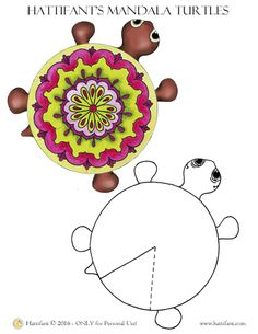 Here is Cousin Tammy, the little Mandala Turtle that comes to visit you free of charge. She cannot wait for you to download her, print and cut her out, glue together and start playing with her! And if you would like her family to follow then go ahead and create some more with the blank template provided on the same page. Or visit http://hattifant.com/papertoys/hattifants-hungry-turtle-family/ to find out more about all the rest of the family that is trying to catch up with her on ther…