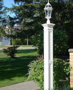 Liberty Lamp Post - Decorative Post Sleeve Only - White contemporary-outdoor-lighting Outdoor Lamp Posts, Outdoor Post Lights, Outdoor Decor, Outdoor Ideas, Backyard Ideas, Garden Ideas, Contemporary Outdoor Lighting, Landscape Lighting, Lamp Post Lights