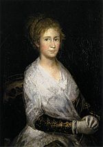 Francisco Goya painted this in 1805, it is unknown if it his wife or someone he had an affair with.