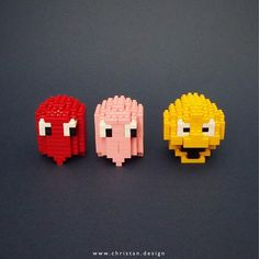 PacMan knows it's Friday! Ready for some weekend fun?  ... http://www.christan.design ... #pacman #retrogaming #retrogames #brickartist #chrisnanoblock #nanoblock #nanoblocks #bricks #blocks #buildingblocks #toy