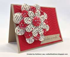 Flower Pin/Card Combination on Etsy  http://craftwithkathleen.blogspot.com/