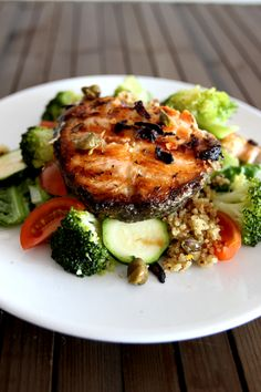 Succulent Salmon Steaks with Quinoa by teffyperk #Salmon #Healthy
