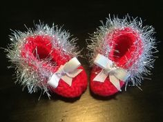 Silver Trimmed Delicate Neon Pink Handmade Baby by JCACreation, $10.00