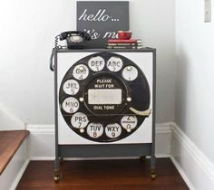 s we couldn t believe these started as ikea rasts, painted furniture, repurposing upcycling, A Vintage Telephone Themed Dresser