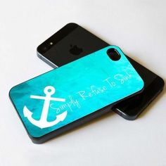 I refuse to sink iPhone case | Anchor Simply Refuse To Sink IPhone 5 BLACK Case on Luulla
