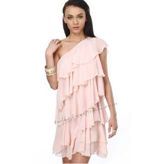 Grecian Pink Layered Prom Dress For Summer TPSD037 [TPSD037] - $125.00... via Polyvore