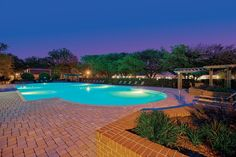 The pool at Maple Bay Townhomes