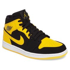 new product a3bb2 e1ef8 Men s Nike  Air Jordan 1 Mid  Sneaker ( 110) ❤ liked on Polyvore