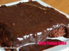 Best Fudge Cake- this is an old family recipe