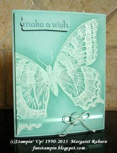 Fun Stampin with Margaret!: Swallowtail Butterfly Resist stamp sets, pool parties, card, butterfli resist, aqua, swallowtail butterfli, paper crafts, fun stampin, stampin up christmas