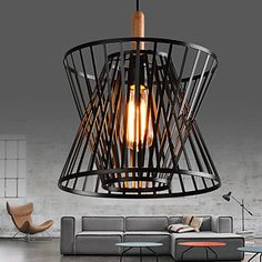 American Loft Iron Art Retro Pendant Light Fixtures Industrial Vintage Lighting…