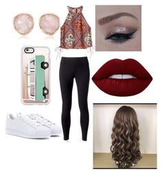 """""""Untitled #709"""" by glamor234 on Polyvore featuring Jockey, adidas, Casetify, Monica Vinader and Lime Crime"""