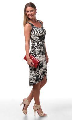 Karen Kane Rouched Side Slit Dress