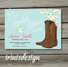 Cowgirl Bridal Shower Customizable Invitation Digital File 20