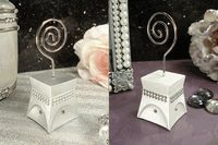 Modern Sparkle Wedding Place Card Holder in White or Silver As Low As $1.45 Each