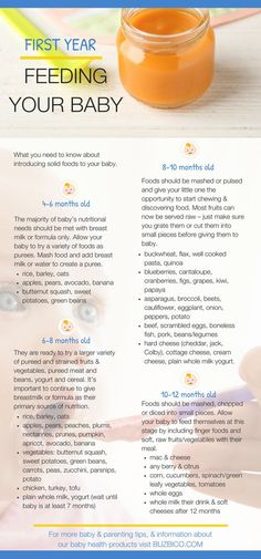 Going from breastfeeding or bottle feeding to eating solids can be a big deal for both parents & their little ones. Suddenly your infant, who survived only on liquids for months, is now interested in solid food! That's why we've created an easy to follow timeline of when to introduce certain foods by age. Read on to learn our top baby food guidelines & tips to help your baby develop a lifetime of healthy eating habits! BubziCo Best Baby Stuff + Products + Must Have Essentials + New Mommy
