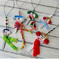 Christmas Decorations From Recycled Keys Craft