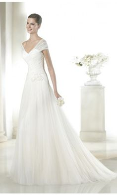 Ethereal A-line Tulle Floor-length Wedding Dresses