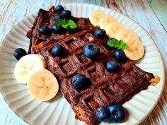 無澱粉低醣雙重巧克力鬆餅 by Iris綻放的廚房 - 愛料理 Gluten Free Waffles, Breakfast, Recipes, Food, Morning Coffee, Essen, Meals, Ripped Recipes, Eten