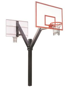 First Team Legend Dynasty DUAL In Ground Fixed Height Outdoor Basketball Hoop 72 inch Fiberglass from NJ Swingsets