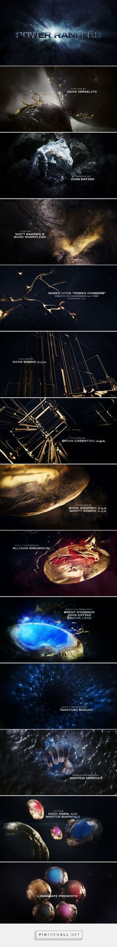 """""""POWER RANGERS"""" End Credits Pitch on Behance - created via https://pinthemall.net"""