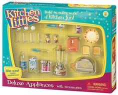 Kitchen Littles Deluxe Appliances Set with Accessories Barbie Doll Set, Barbie Food, Vintage Barbie Dolls, Barbie 1990, Kids Doll House, Barbie Playsets, Barbie Kitchen, Barbie Family, Barbie Doll Accessories