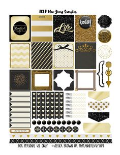 New Years Sampler - Free Planner Printable | My Planner Envy