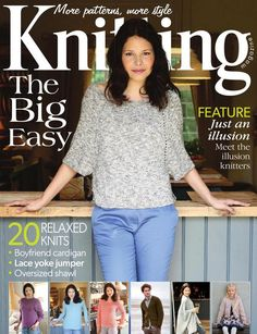 Knitting magazine issue September 20 relaxed knits for that transitional summer-to-autumn time. Plus, meet the illusion knitters! Knitting Books, Crochet Books, Vintage Knitting, Hand Crochet, Knit Crochet, Kids Knitting Patterns, Crochet Patterns For Beginners, Knitting Ideas, Knitting Magazine