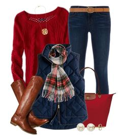 """On Wednesdays We Wear Red"" by qtpiekelso ❤ liked on Polyvore featuring American…"