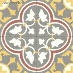 Cement Tile Shop - Encaustic Cement Tile Roseton Red