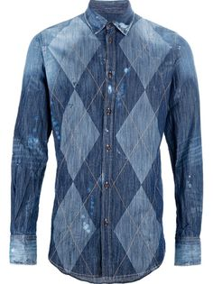 DSQUARED2 Camisa Jeans Azul.