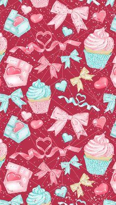 24 Ideas For Cupcakes Wallpaper Iphone Kawaii Cupcakes Wallpaper, Food Wallpaper, Wallpaper Iphone Disney, Kawaii Wallpaper, New Wallpaper, Wallpaper Backgrounds, Food Backgrounds, Spring Wallpaper, Trendy Wallpaper