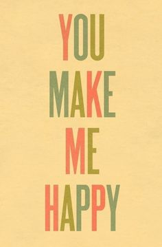 You Make Me Happy Print | Little Paper Planes