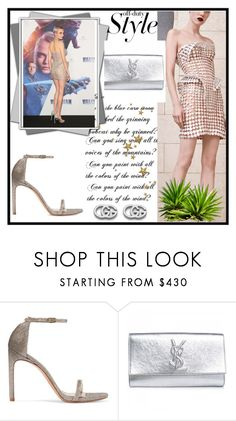 """""""Cara Delevingne Valerian and the City of A Thousand Planets Premiere in Mexico City"""" by ketrin-maknamara ❤ liked on Polyvore featuring Versace, Stuart Weitzman, Yves Saint Laurent and Gucci"""
