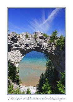 Arch Rock on Mackinac Island, Michigan