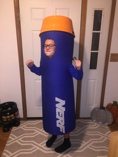My son's Nerf dart costume we built him for Halloween this year!