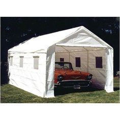 Universal Complete Enclosed Canopy by King Canopy. $349.00. Great for camping, parties, and protection for your car. The walls consist of (1) plain endwall, (1) zippered endwall, and (2) sidewalls with clear plastic windows Dimensions:. White drawstring cover and a wall kit encloses the unit. 20 ft. L. 10 ft. 8 in. W. BJ2PC Features: -White drawstring cover.-White frame.-Walls include (1) plain endwall, (1) zippered endwall, and (2) sidewalls with clear plastic ...