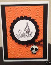 Disney Nightmare Before Christmas Zero Handmade Greeting card Orange!