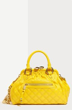 MARC JACOBS 'Quilting Mini' Stam Bag #yellow