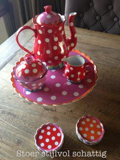 Red and polka dots - double smile - Oilily