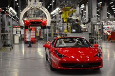 Inside the Ferrari factory in Maranello    We bring to you stunning pictures from the Ferrari 45 buildings's factory, where more than 3,000 workers produce the company's GT and Formula 1 cars is based in Maranello.