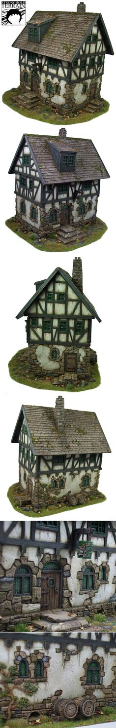 "Little ""Tudor"" house from all sides."