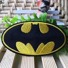 Batman Logo iron on patch 002